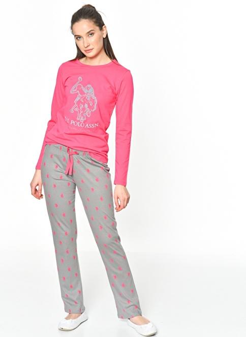 U.S.Polo Assn. Pijama Takım Fuşya